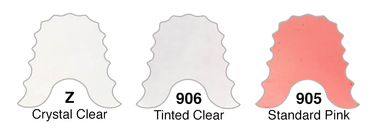 CLEAR MONOMERS:  Z-Clear; 905-Pink; 906-Tinted Clear